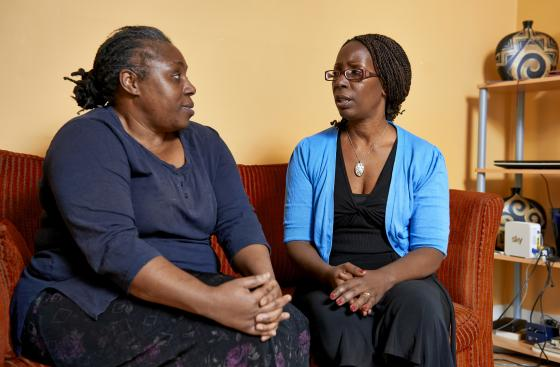 Bisi, who cares for her mum with Parkinson's, and her Parkinson's local adviser