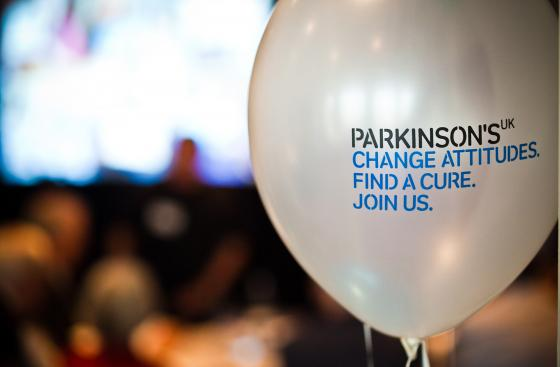 A Parkinson's UK balloon