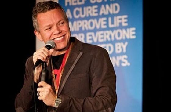 Rob Deering, a supporter of Parkinson's UK at Shake With Laughter comedy event in London