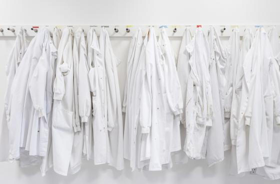 Lab coats at Parkinson's UK Brain Bank