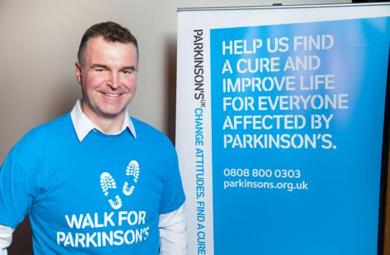 Dave Clark, an ambassador for Parkinson's UK