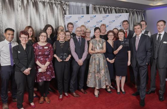 A group shot of the Excellence Network Awards winners 2018