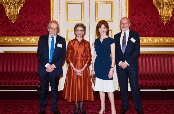 Gerald Scarfe, the Duchess of Gloucester, Parkinson's UK President Jane Asher and Chair Mark Goodridge