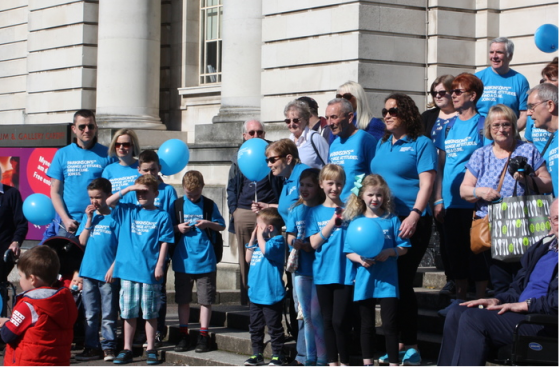 Parkinson's UK supporters at Municipal Buildings, Pontypridd and Rhondda