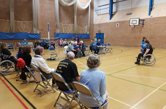 people playing boccia in Gwynedd