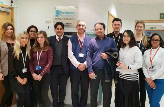 The Specialist Parkinson's Team at King's College Hospital standing together for a group photo