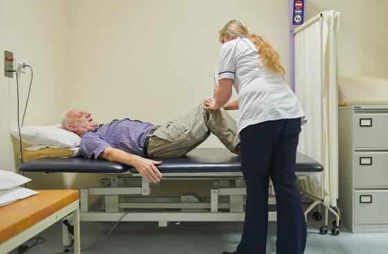 Physiotherapy in hospital
