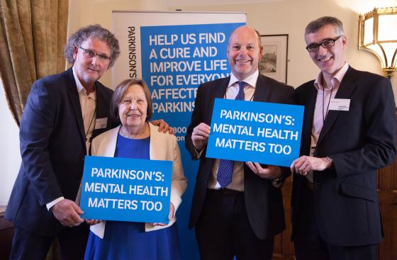 Gary Berry, Steve Ford, Dr Rob Skelly and Baroness Gale at the launch of the All Parliamentary Group report on mental health services