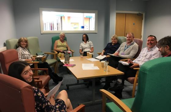 May meeting of the Swansea Bay University Health Board Parkinson's partnership including members of Parkinson's UK Cymru team and health board representatives