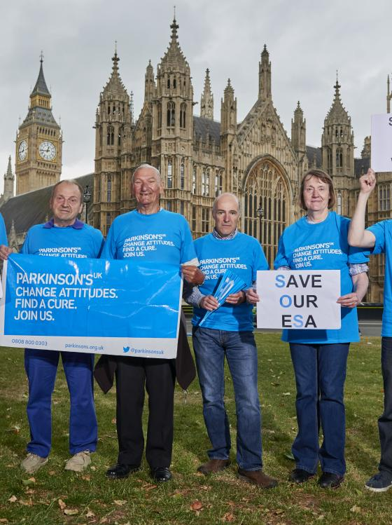 Campaigners outside Parliament