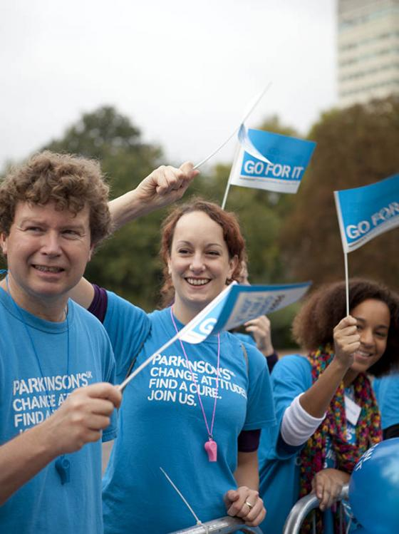 volunteers at half marathon