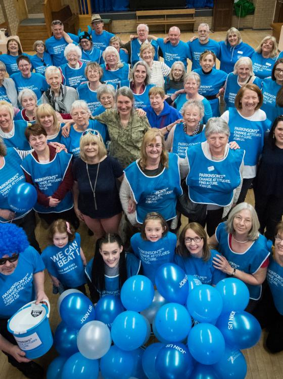 A group of Parkinson's UK volunteers
