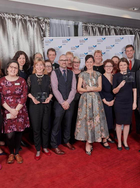 2018 Excellence Network Awards winners group