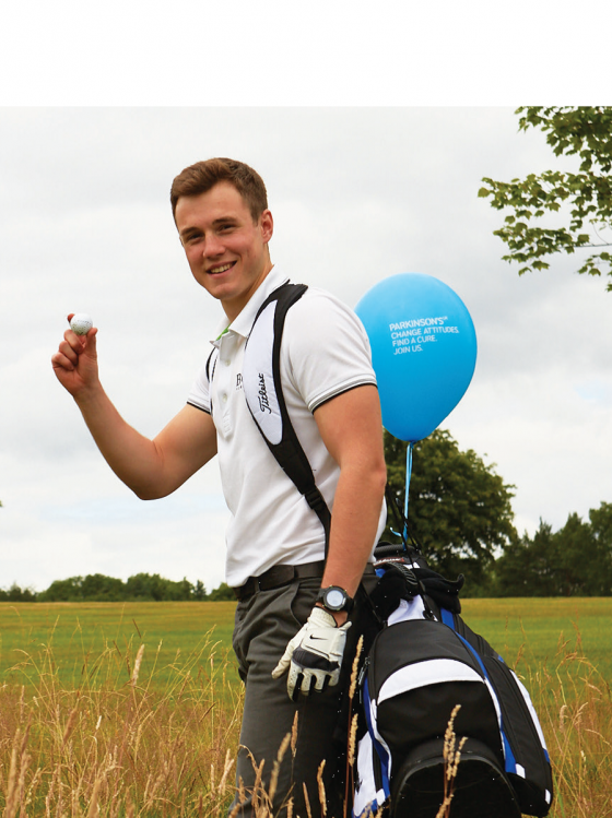 A golfer fundraising for Parkinson's UK in Northern Ireland