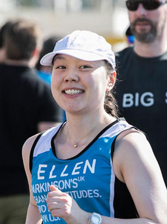 Eileen runs the London Marathon for Parkinson's UK