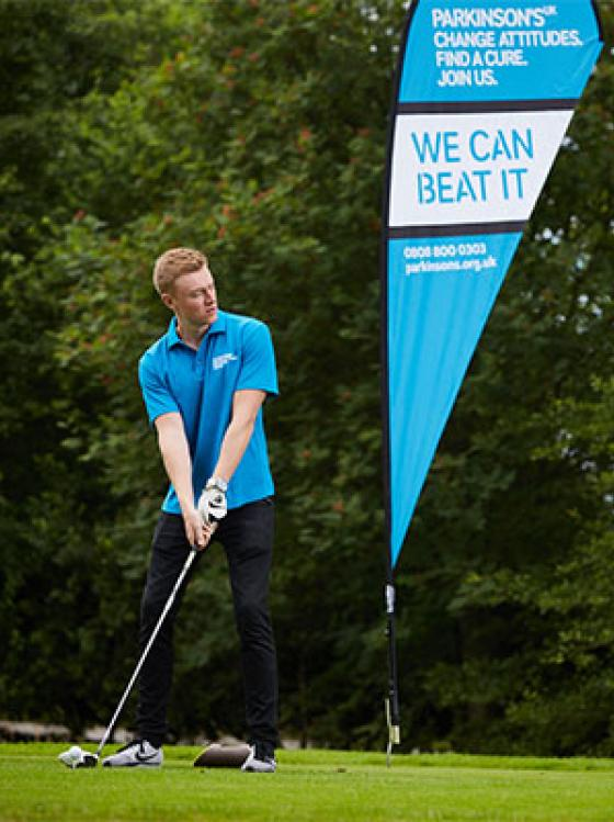 Teeing off at a Par for Parkinson's golf day