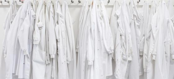 Row of lab coats