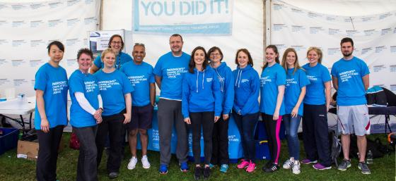 Volunteers at the Great North Run 2016