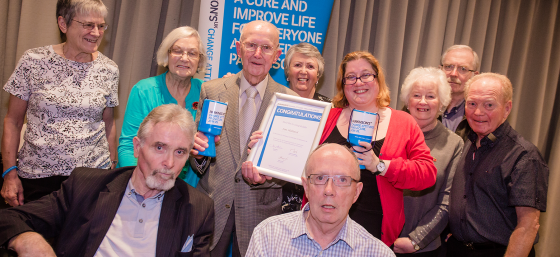 A group of Parkinson's UK supporters in Scotland