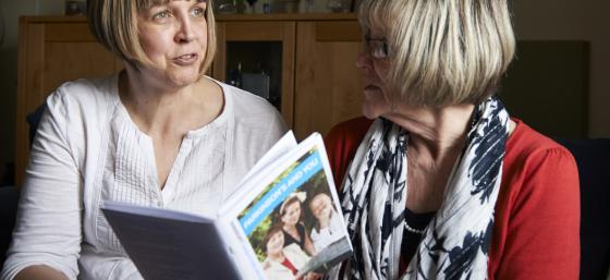 Woman talking to a Parkinson's Local Adviser in Wales
