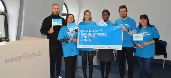 easyHotel staff supporting Parkinson's UK