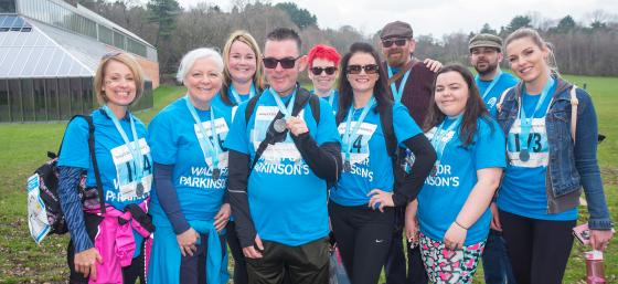 Group of walkers at Walk for Parkinson's Pollok Park Glasgow 2018
