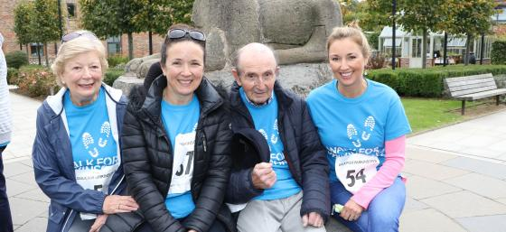 Claire McCollum and her family, walking for Parkinson's in Northern Ireland