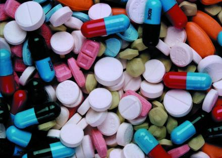 Image of lots of differently coloured pills