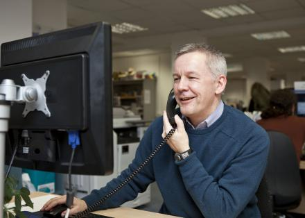 A Parkinson's UK helpline adviser