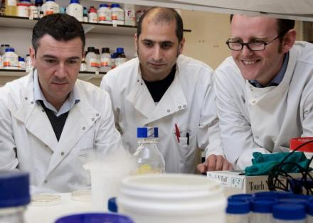 3 Parkinson's researchers in the lab