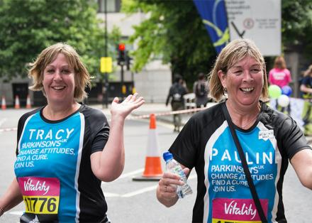 Tracy and Pauline running for Parkinson's UK