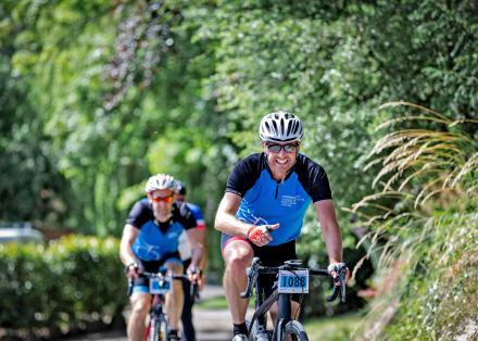 3 cyclists taking part in Pedal for Parkinson's Stratford in 2018