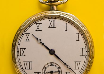 An old-fashioned pocket watch