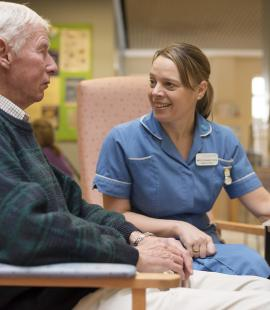 A Parkinson's UK nurse